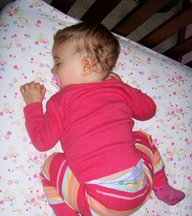 Autumn's Asleep in the Crib… before she turns 1!