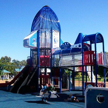 Playdate at Deer Creek park (aka as Rocket Park) in Maplewood
