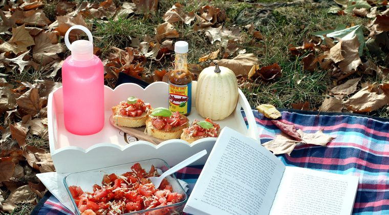 Mexican Bruschetta for a Personal Picnic at the Park