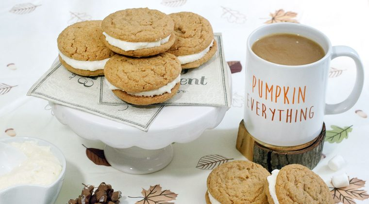 Pumpkin Spice & Marshmallow Whoopie Pies