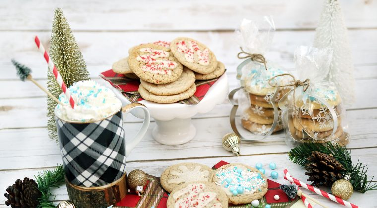 Holiday Eggnog Glazed Snickerdoodles {A Christmas Festival Blog Hop}