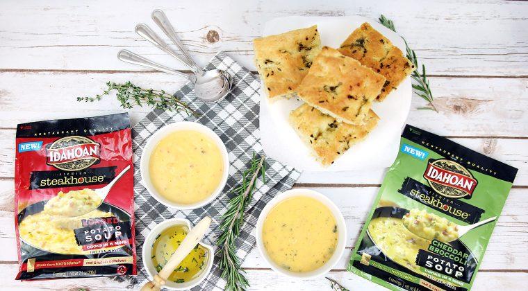 Warm & Cozy Soups to Enjoy w/ Garlic & Herb Focaccia Bread