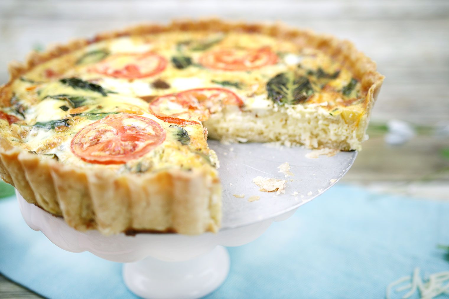 Caprese Quiche with a Delicate & Delicious Homemade Crust