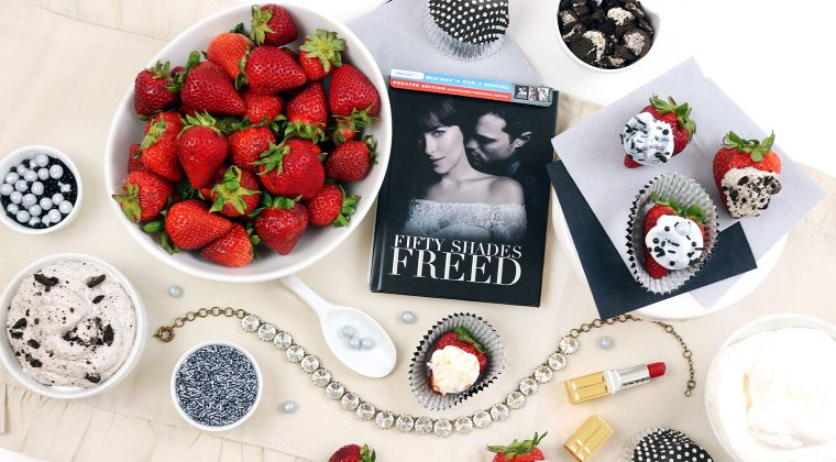 A Fun & Delicious Movie Night with a Strawberry Topping Bar