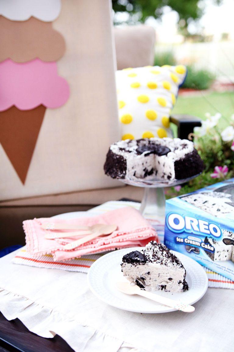 Oreo Ice Cream Cake Summer Party
